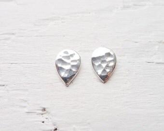 Spade or Teardrop Hammered Post Earrings - 1 pair (2 styles)