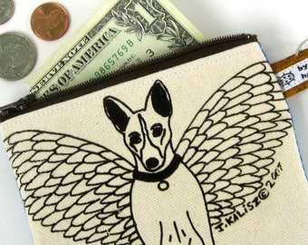 Basenji Angel Dog Change Purse