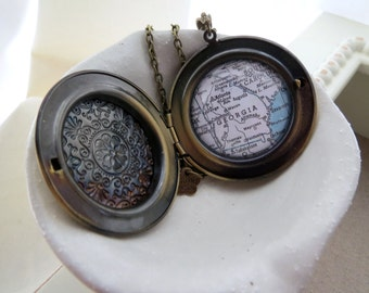 Map Locket Choose your US State