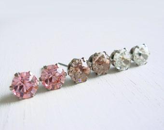 Choose Your Color. Timeless 6mm Swarovski Crystal Diamond Cut Stud Earrings. Nickel Free Post. Bridal Earrings. Gift for Bridesmaids