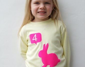 Birthday T shirt With Bunny Rabbit