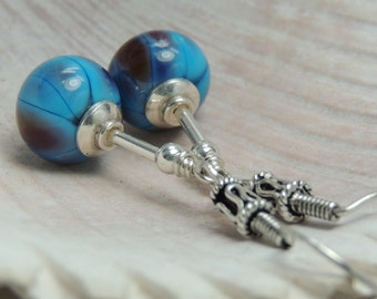 ANATOLIA Handmade Lampwork Bead Dangle Earrings