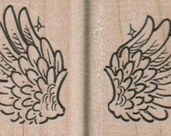 Angel Wings,  wood mounted art and craft supplies,   tateam  Item 11063