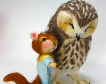 Needle Felted Animal / Tutorial / Needle Felted Pattern / Needle Felted Mouse & Bunny / Needle Felting / Wool Roving / Wool Fleece / Pattern