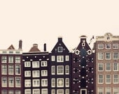 "Amsterdam Photograph, Large Wall Art Print, Travel Photography, Large Art, Architecture Print, Fine Art Photography, ""Crooked Houses"""