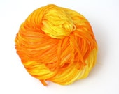 Sunny, Hand Painted, Hand Dyed, Ribbon, Yarn