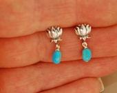 Lotus Blossom Turquoise earrings