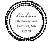 string of dots rubber address stamp