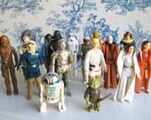 vintage Star Wars action figures set