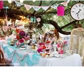 5 Postcard Set - Tea Party in the Garden