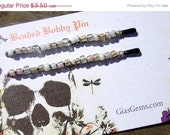 ON SALE White Wedding Mix up PAIR Wire wrapped Beaded Bobby Pin boutique hair accessory delicate beauty girl SFEtsy