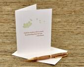 Half the trouble in life - Edith Wharton quote - letterpress card