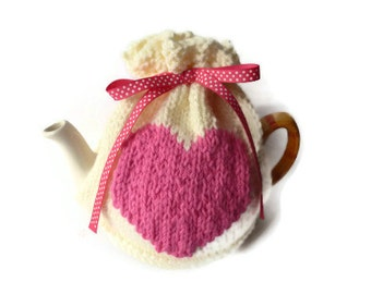 tea cozy heart knitting pattern pdf file