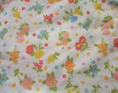 beauty is the eye of the beholder....vintage floral sheet