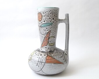 French Modernist  Ceramic Handled Vase by Marius Bessone  Vallauris