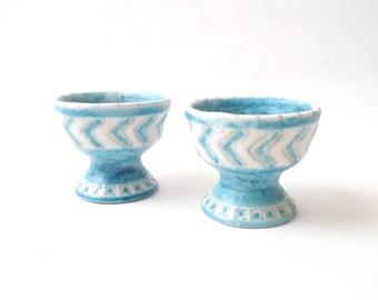 Italian Modernist Gambone Ceramic Candlesticks  1950s
