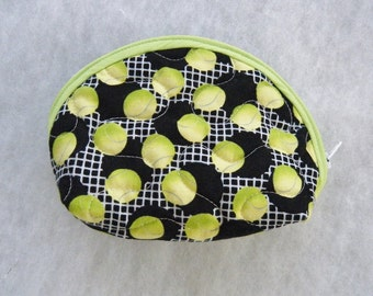 Small Quilted Purse - Tennis Balls