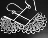Filigree sterling silver and Argentium silver earrings
