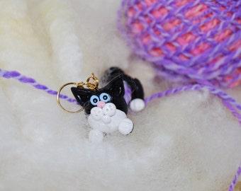 Black Kitty Cat WPI tool gauge for handspun or any yarn