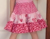 Hearts and Flowers Twirl Skirt Girls sizes 2-10