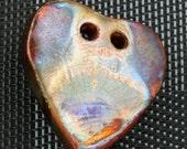 2 Hole Heart Pendant