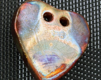 2 Hole Heart Pendant