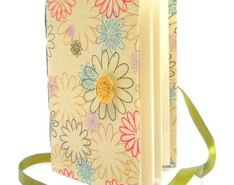 Beige journal, Flowers journal, Lined Journal, journal, notebook, Handmade journals, writing journal, colorful flowers diary, journal diary