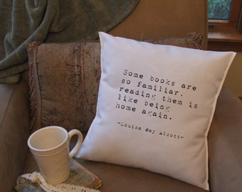 book lover throw pillow cover, book quote pillow