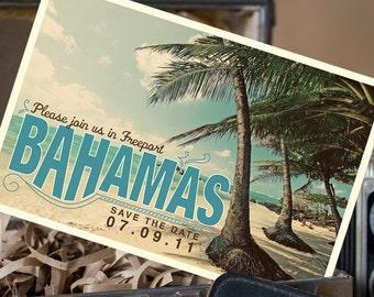 Vintage Postcard Save the Date (Bahamas) - Design Fee