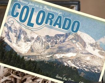 Vintage Travel Postcard Save the Date (Colorado) - Design Fee