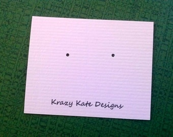 Post earring cards, set of 30, personalized, printed jewelry cards, jewelry card