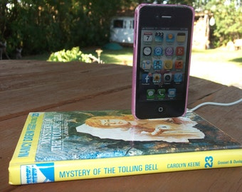 SALE IPhone Dock Station Nancy Drew Book Mystery of Towing Bell Book Docking Charger Mobile Device Accessories