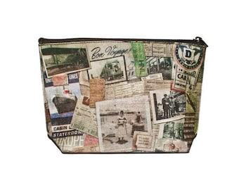 CLEARANCE Darling Destinations zipper clutch bag