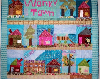 Wonky Town Patchwork Quilt