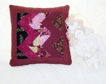 Patchwork Pillow, Streak of Pink