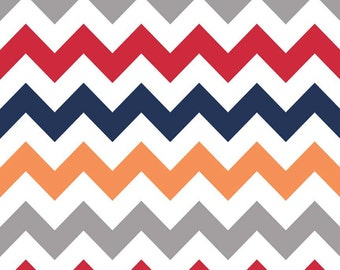 Riley Blake Designs, Medium Chevron Boy Fabric - REMNANT Size 27 Inches by 44 Inches