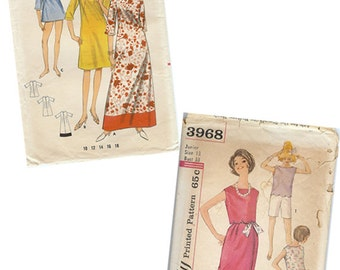 Vintage 1960s Sewing Patterns Butterick 4011 OR Simplicity 3968