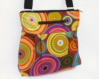 iPad Purse Kindle Handbag iPad Shoulder Bag Nook Purse Padded Electronics Pocket LARGE HOBO BAG Bohemian Jewels Fabric