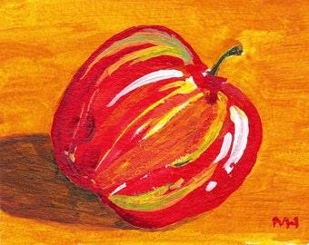 Apple - Original Acrylic Painting