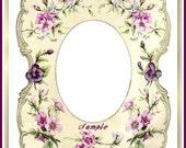 Vintage Distressed Floral Frames Set of 6 for Scrapbooks, Cards, Tags Digital Printable INSTANT DOWNLOAD