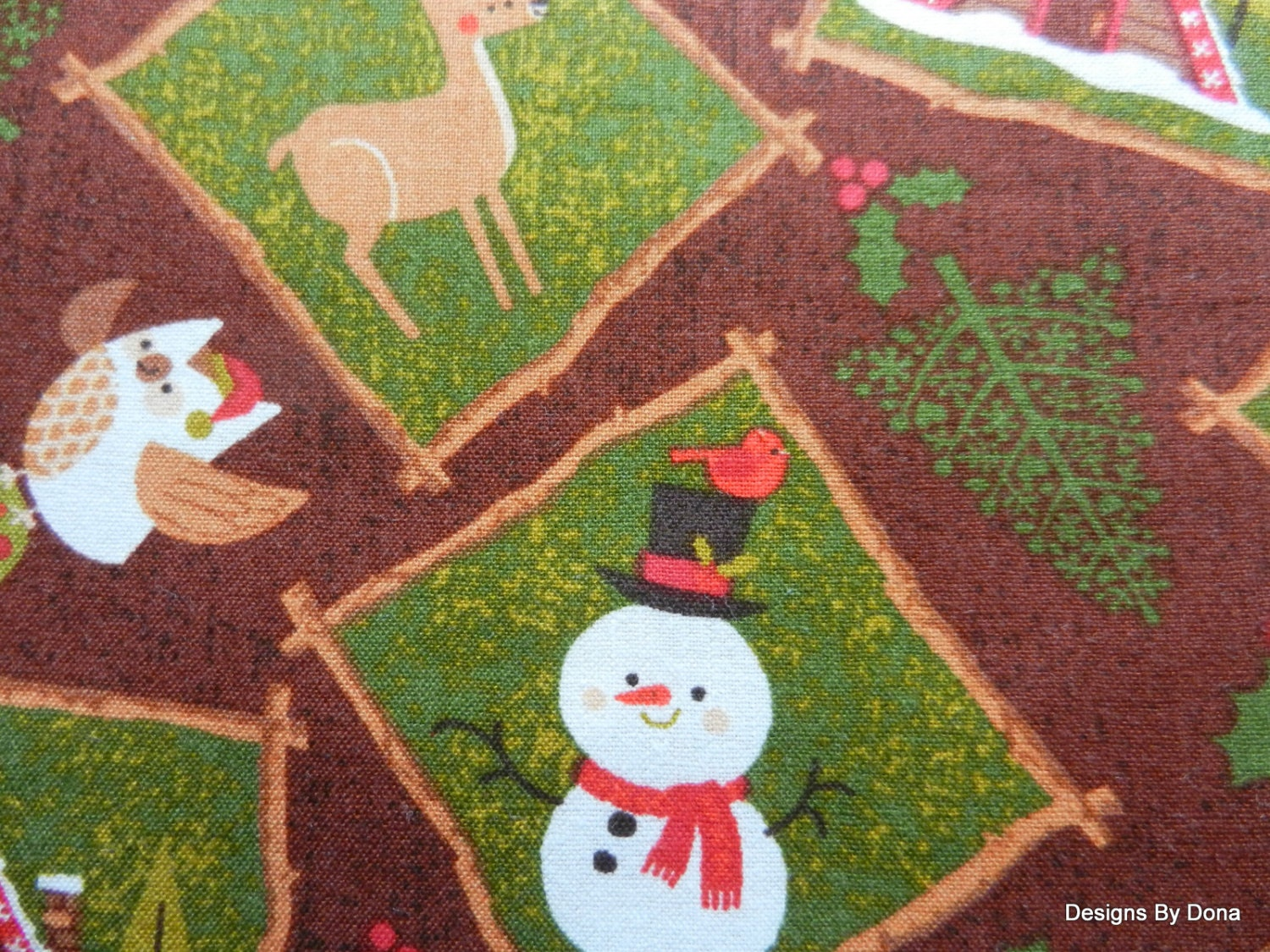 Clearance sale one fat quarter cut of quilt fabric christmas for Quilting fabric sale