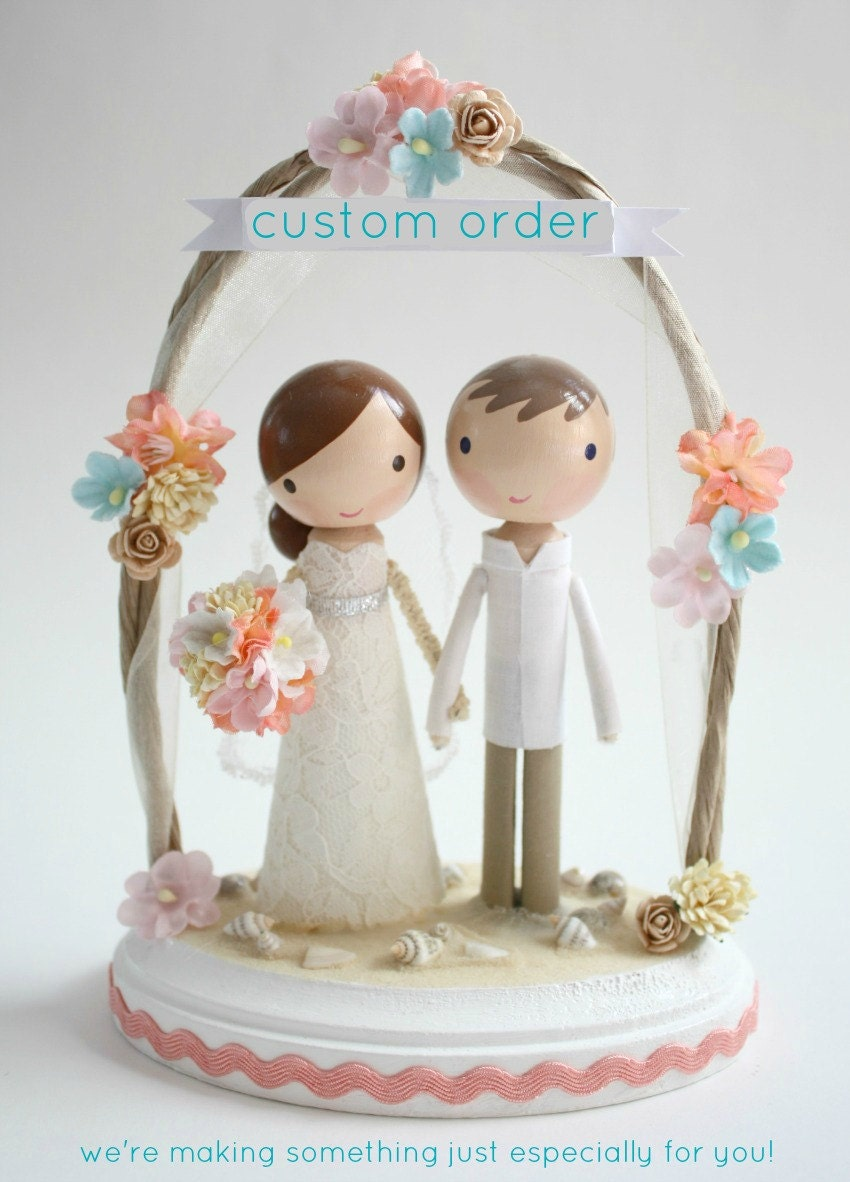 customizable wedding cake toppers custom wedding cake topper order for by lollipopworkshop 3258