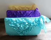 SET OF 7 Envelope Bridesmaids Clutches/ Ruffle Clutches/ Custom Colors