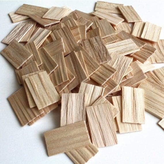 Square Butt Wood Shingles Dollhouse Miniature 1 Inch Scale