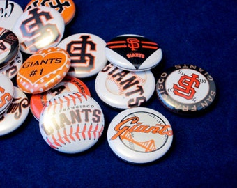 10 SF GIANTS Buttons