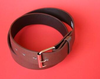 clearance ~ brown synthetic VEGAN / VEGETARIAN snap BELT for interchangeable belt buckles