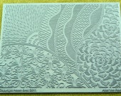 After The Rain Zentangle Helen Breil Texture Embossing Intricate Rubber Stamp