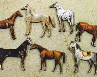 Wood Horses - Laser Cut Wooden Crart Pieces