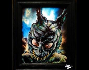 Frank the Rabbit - Original Drawing - Donnie Darko Sci Fi Horror Dark Art Science Fiction Cult Bunnie Bunny Drama Gothic 80s Villian Pop Art