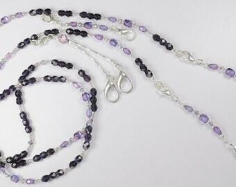 Purple Passion Crystal Beaded Needlework Chatelaine